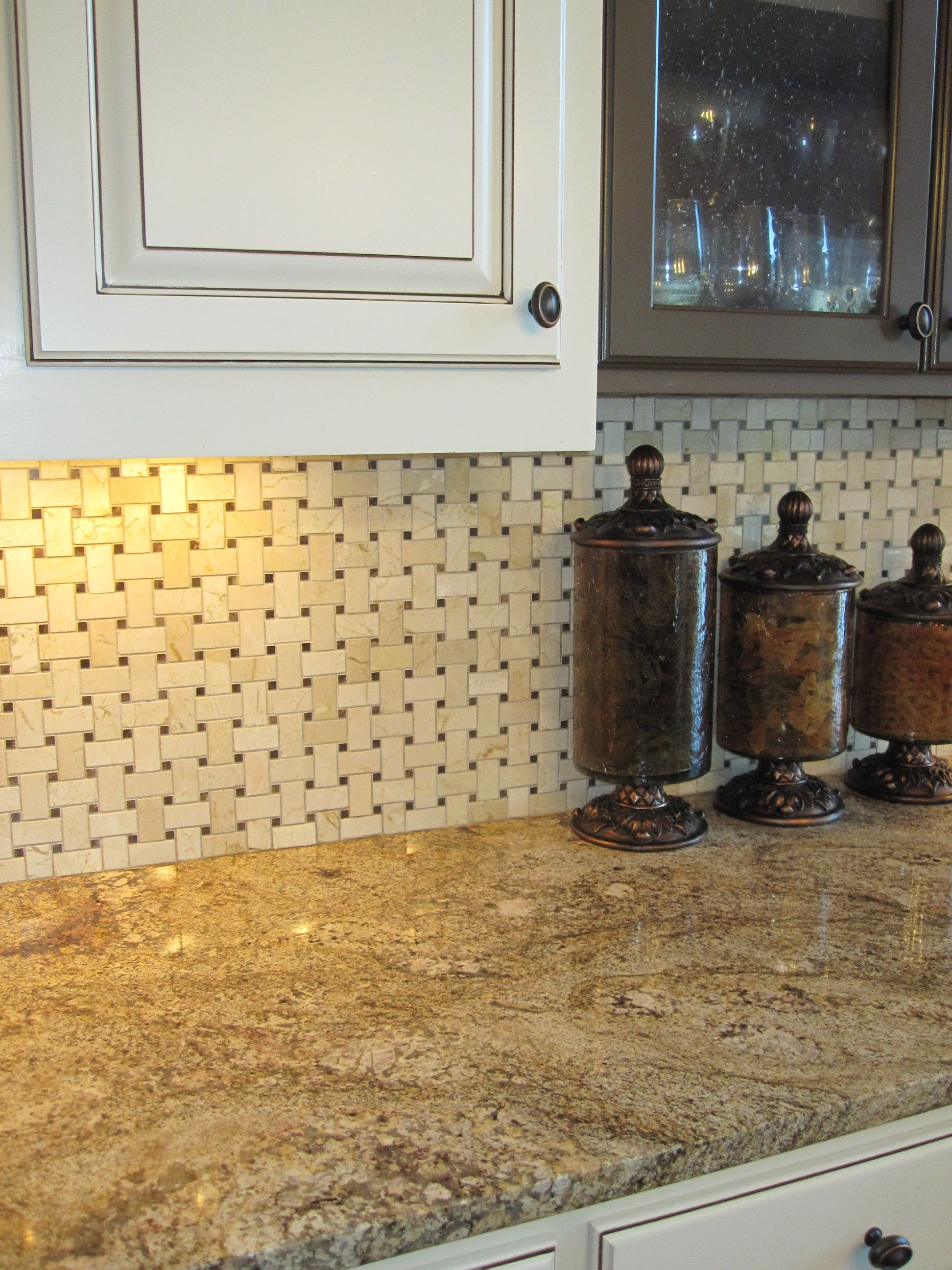 basketweave marble backsplash rooms i remodeled or decorated