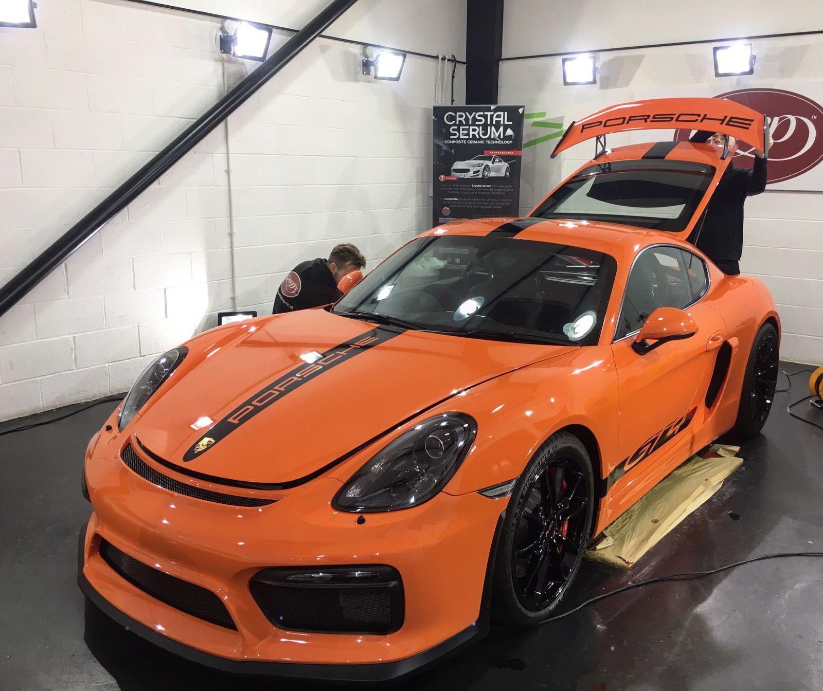Current Porsche Models: Gulf Orange GT4 Clubsport