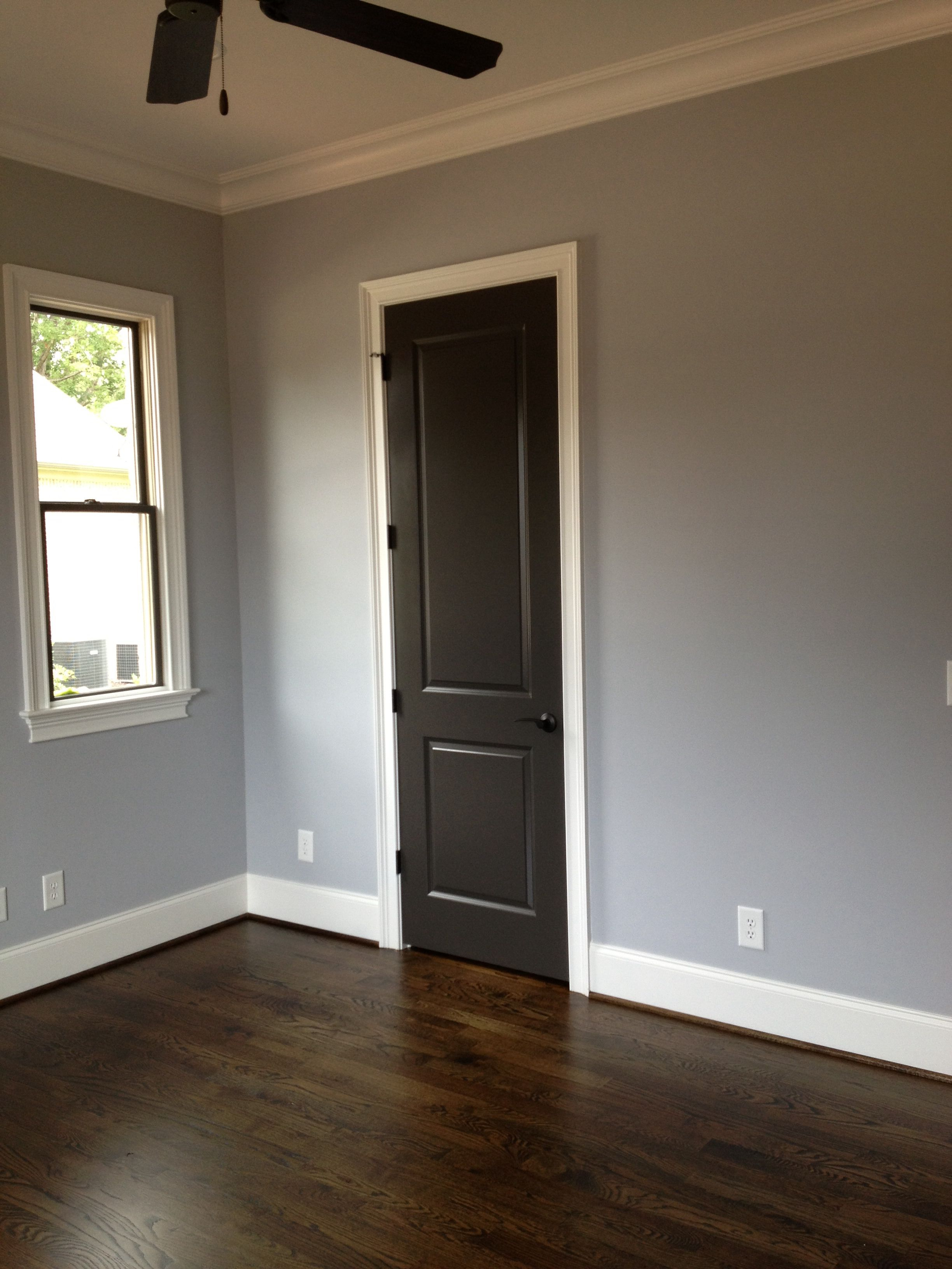Attrayant Sherwin Williams Lazy Gray And Urbane Bronze On Doors And Window Interior  Trim. Our Guest Room Colors.