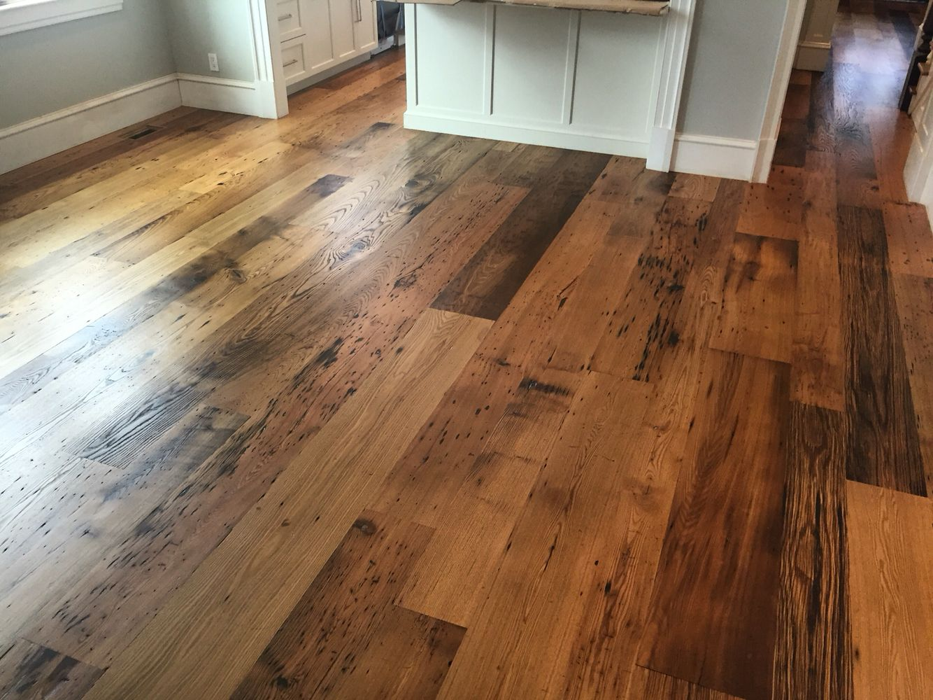 Locally Milled Wide Plank Reclaimed Chestnut Flooring