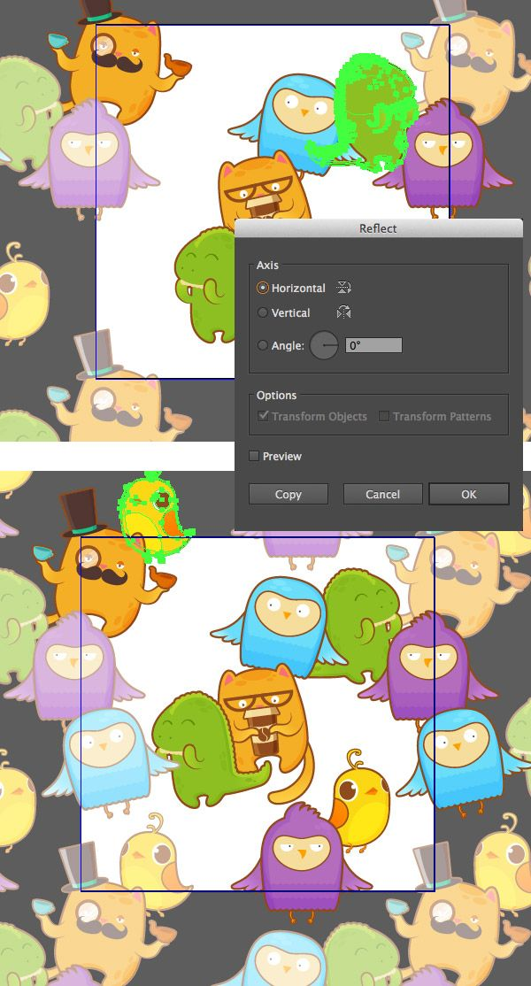 How to create a crazy sticker bombing seamless pattern in adobe illustrator