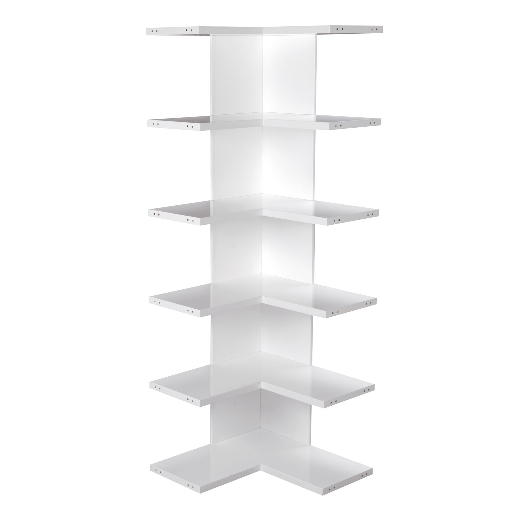 Etagere D Angle Blanche Lorena Bibliotheques A Composer Lorena