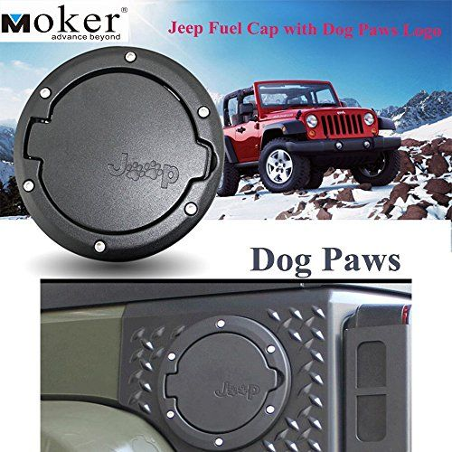 Moker Aluminum Powder Coated Fuel Filler Door Cover Gas Tank Cap