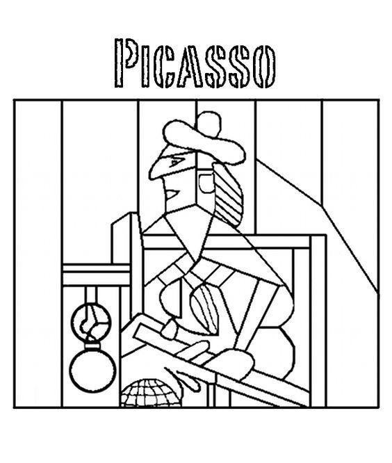 ünlü Ressamların Tablolarının Boyama Sayfaları Okul öncesi