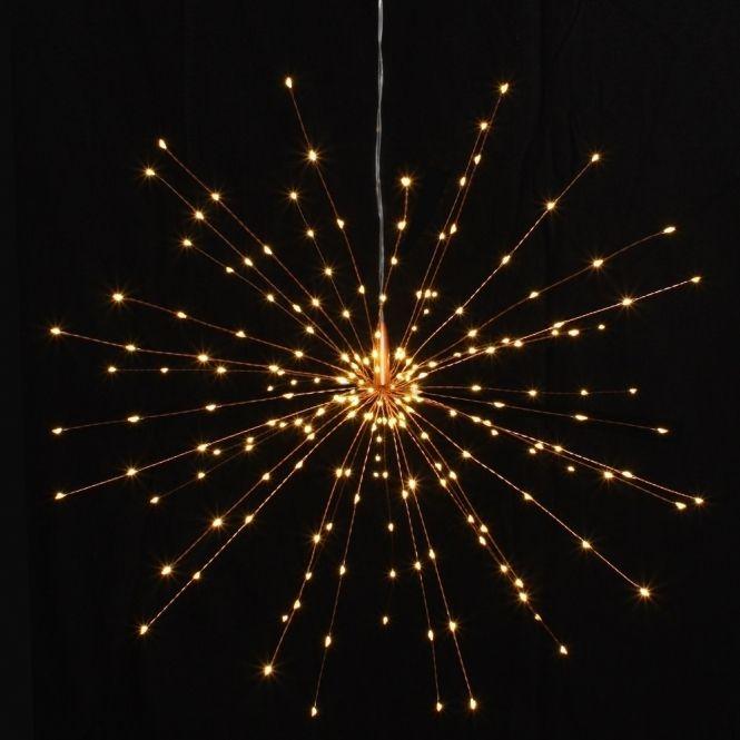 Hurn hurn discoveries starburst led light ornament copper large hanging