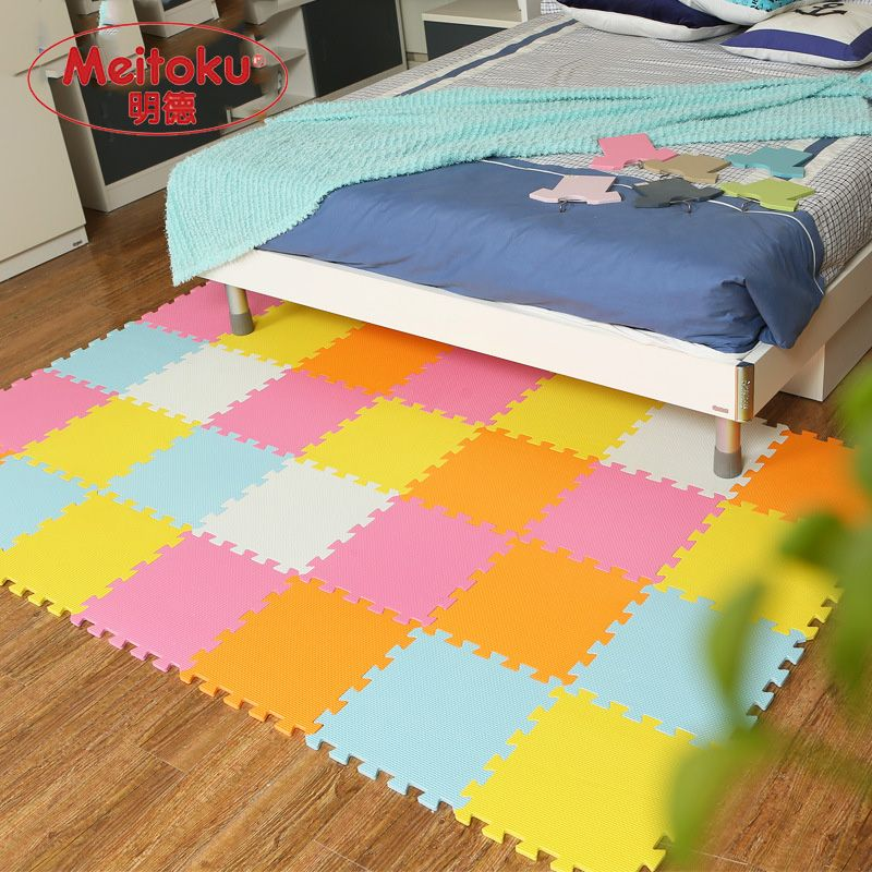 9Pcs Kid Rug EVA Foam Floor Puzzle Exercise Gym Interlock Pad Baby Toy Game