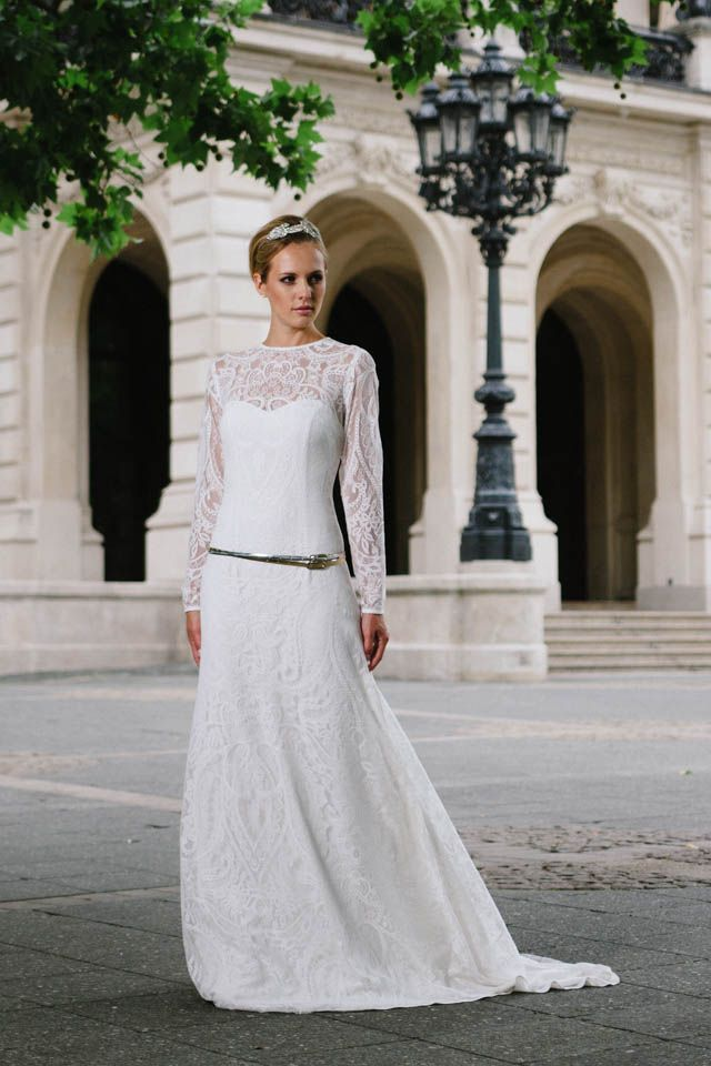Ein langärmliges Hochzeitskleid, das sicher auch dir gut steht ...