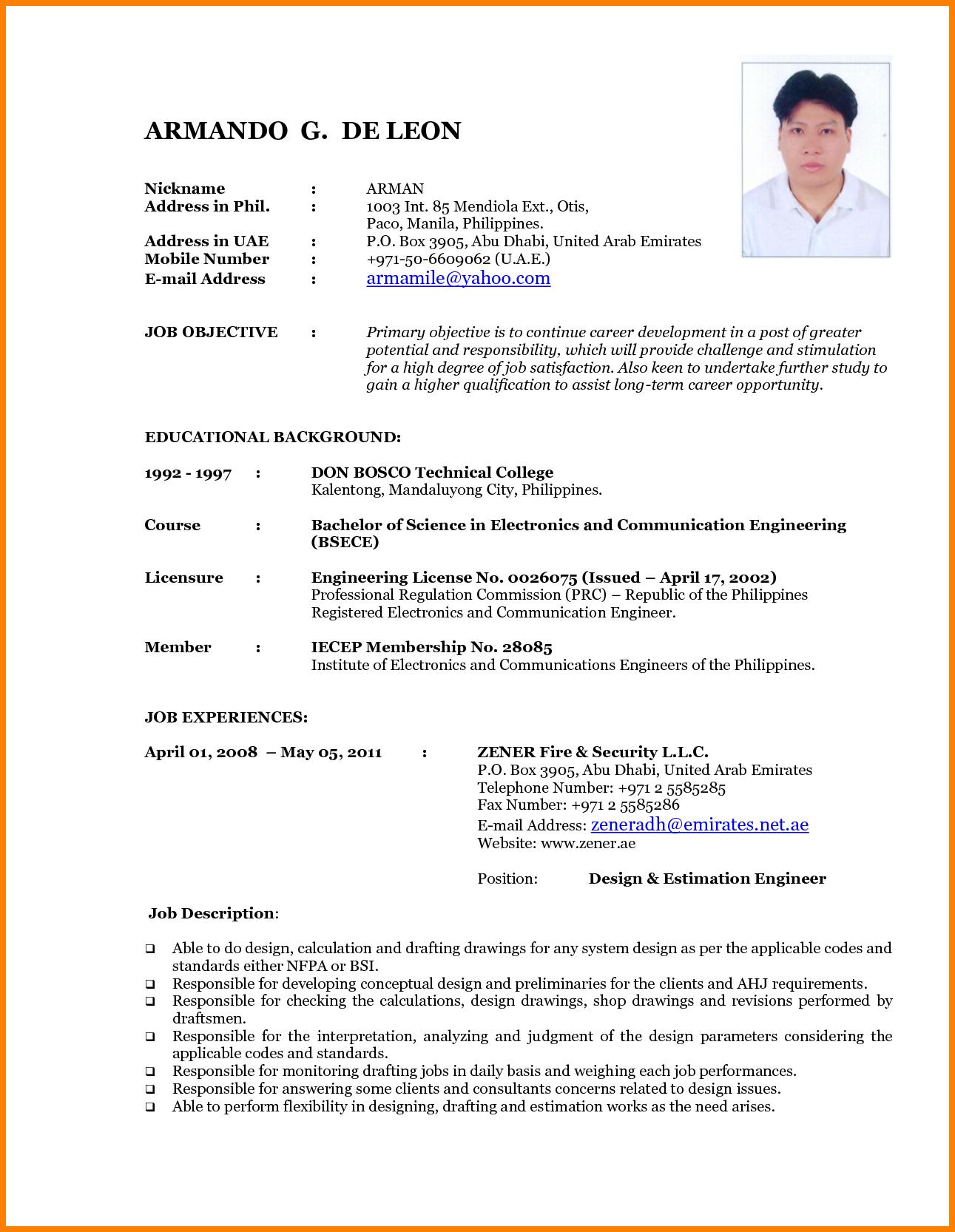 Resume Format Latest Resume format, Latest resume format