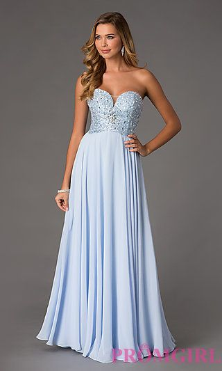 Floor Length Strapless Sweetheart Dress by Swing Prom at PromGirl.com
