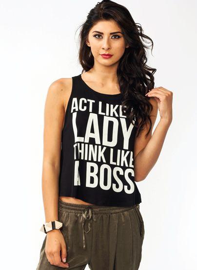 Be A Boss Tank