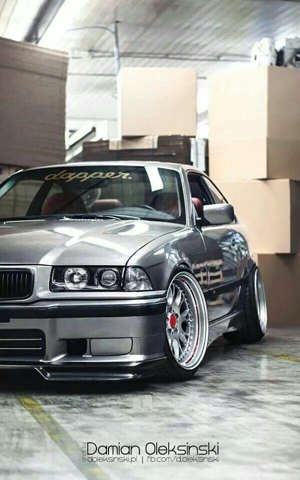 BMW E36 3 series silver deep dish slammed dapper | Cars ...