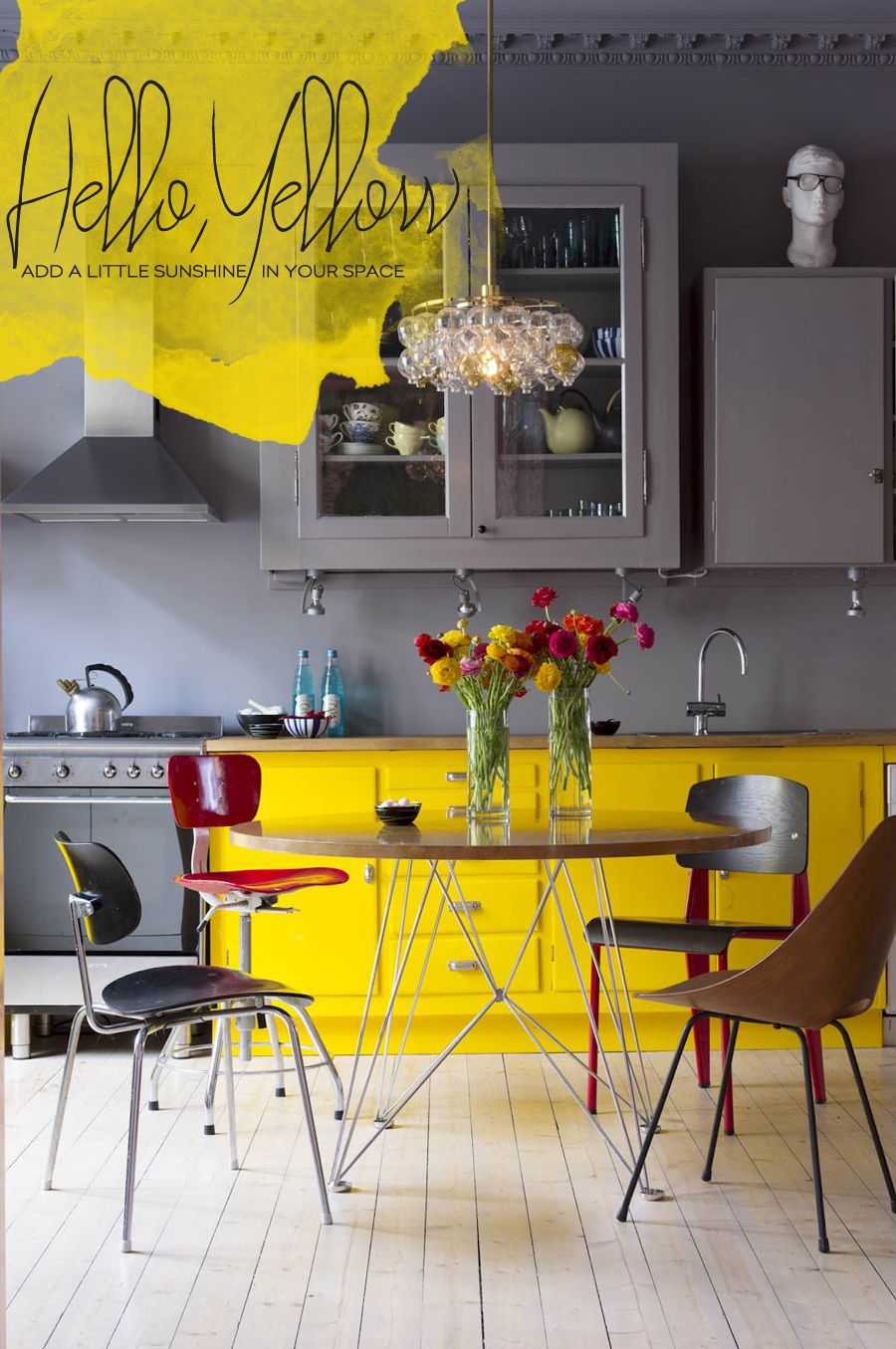 Living The Trend: Yellow Kitchen And Dining Room Accents | Furniture ...