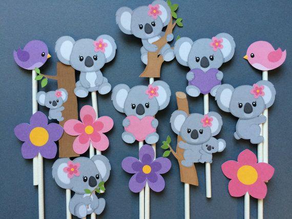 Koala Bear Cupcake Toppers 14 Koala Bear Koala Bear Cake