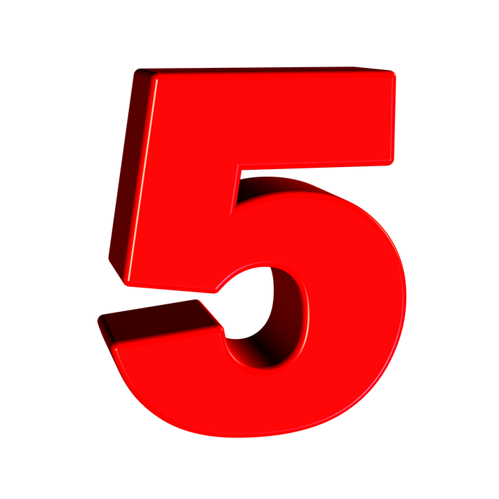 Картинка с цифрой пять