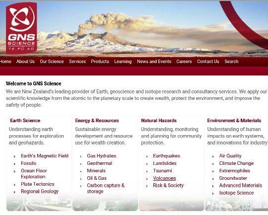 GNS Homepage http://www.gns.cri.nz/