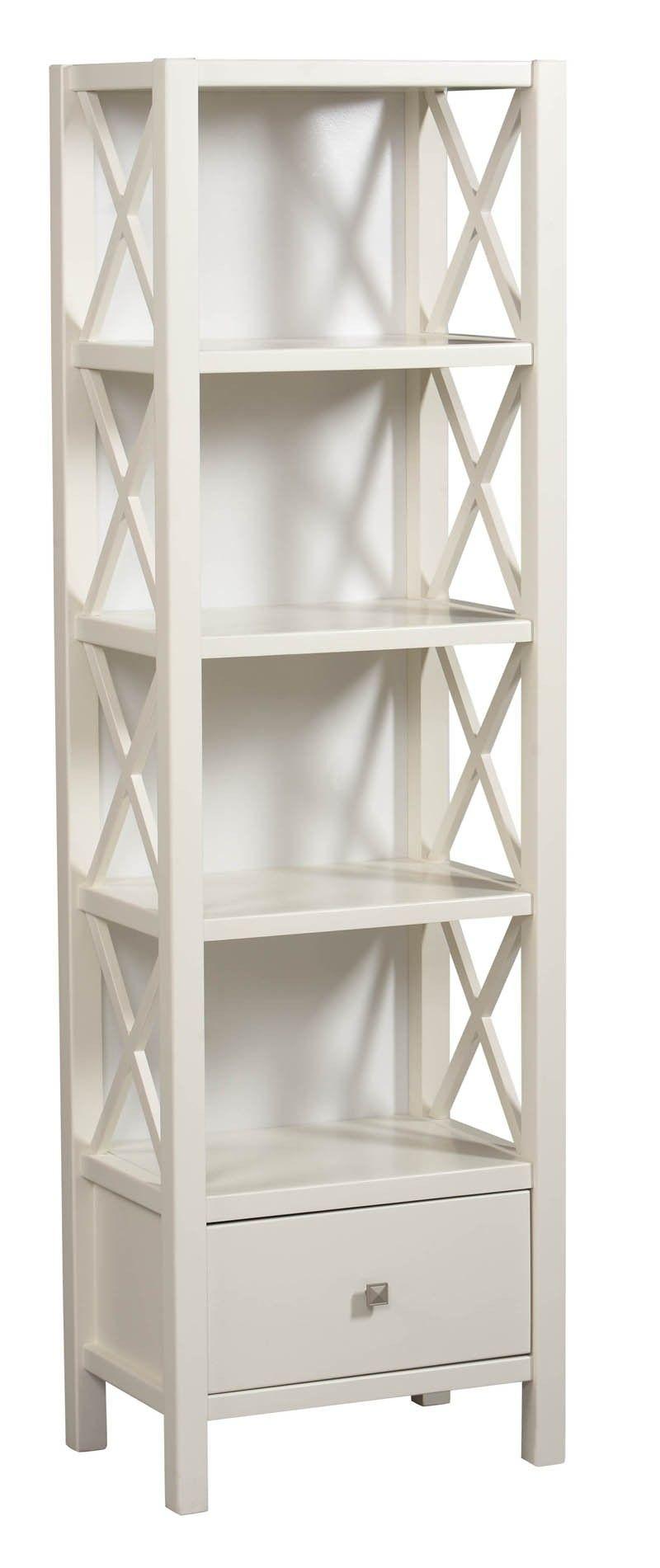 lancaster 5 shelf narrow bookcase white 22 w x 25 d x 72 h 278 bathroom home bookshelves. Black Bedroom Furniture Sets. Home Design Ideas