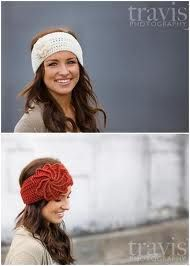 Crocheted ear warmers.