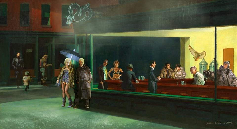 """Cantina"" by David Eger - based on Edward Hopper's famous ... 