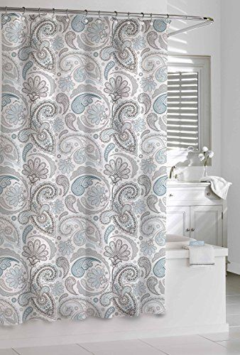 Cotton Waffle Weave Fabric Shower Curtain Machine Washable Bathroom Decor