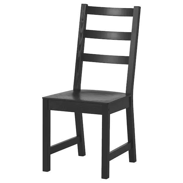 Nordviken Stuhl Schwarz Ikea Deutschland In 2021 Solid Wood Chairs Ikea Dining Chairs