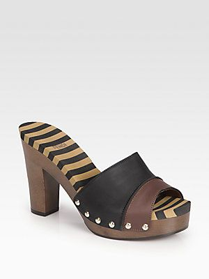 visa payment for sale Fendi Leather Clog Sandals sale Manchester for nice outlet authentic for sale sale online Zc4hjkvO