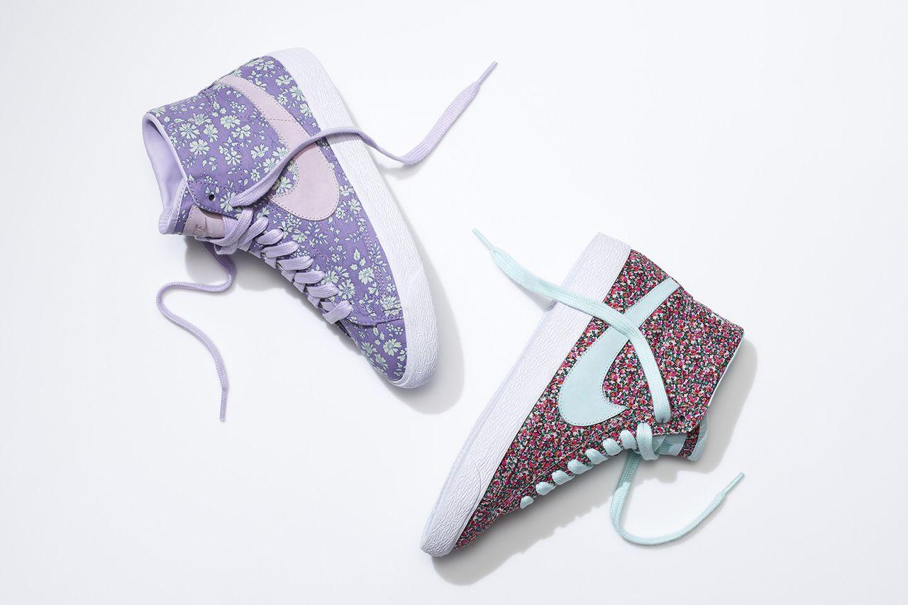 Nike Blazer Womens Liberty X Shoes Mid Floral Print Colorful