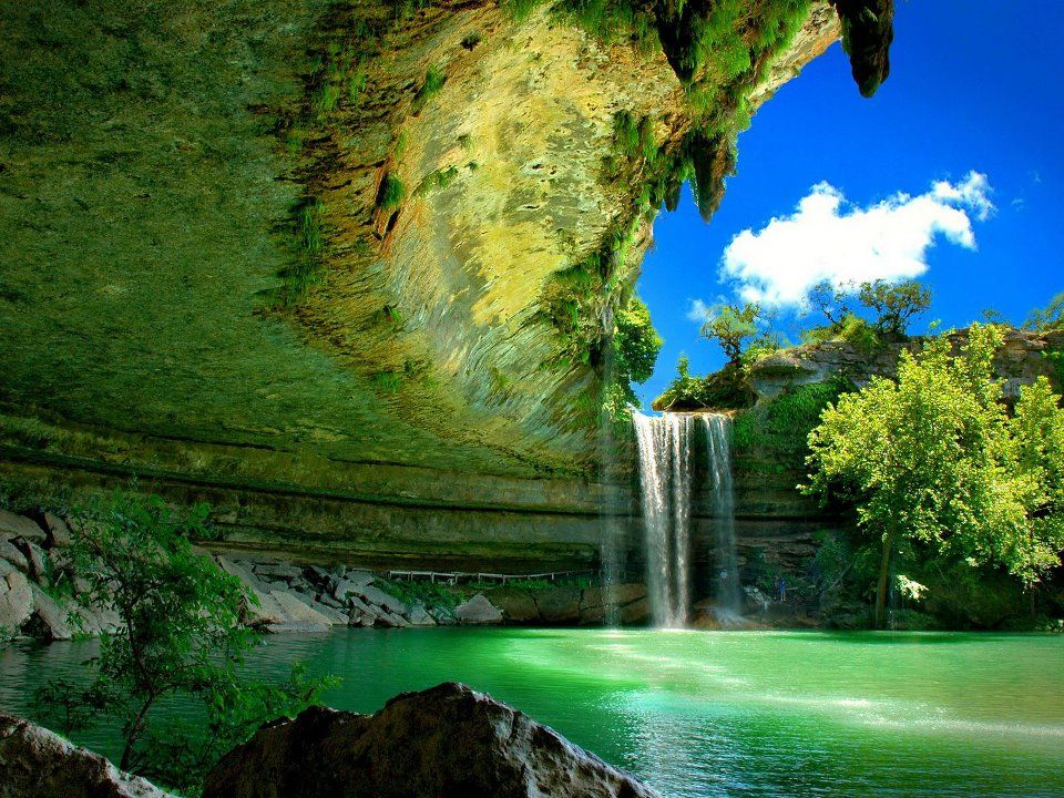 Hamilton Pool The pool is located about 23 miles (37 km) west of