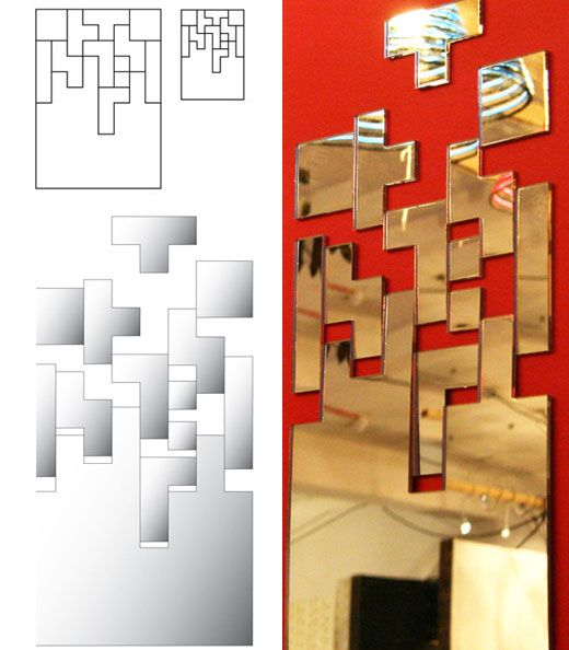 Check out these subtle Tetris-inspired mirrors.