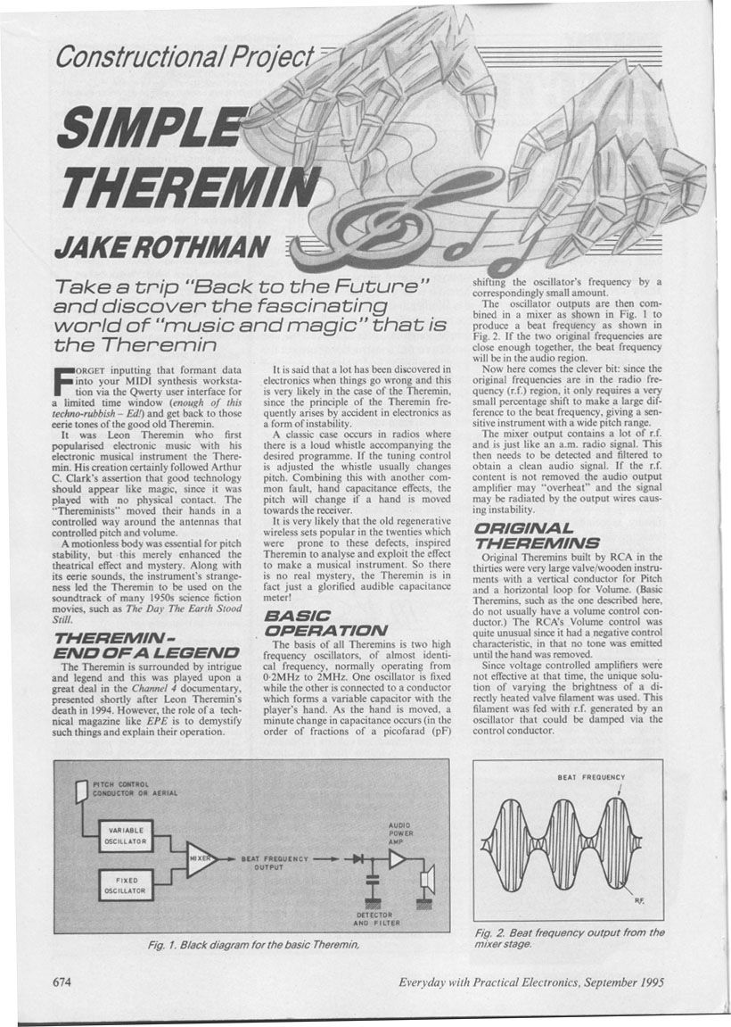 Page1 8201151 Theremin Diy Pinterest Circuit Diagram
