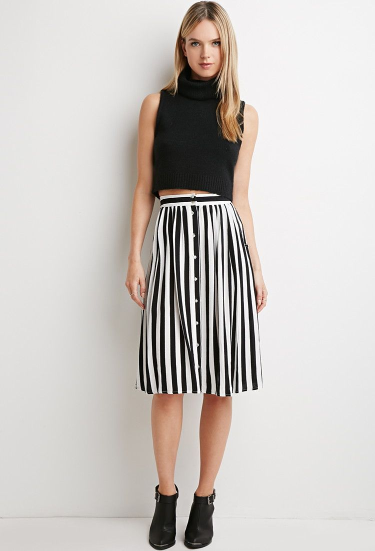 Contemporary Striped Midi Skirt | MyPins | Pinterest | Shops, The ...