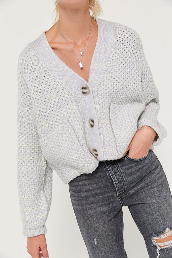 UO Smith Boxy Button-Front Cardigan