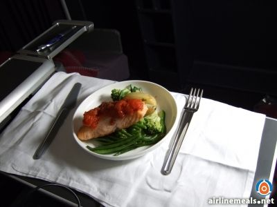 Qantas business class meals designed by star chef Neil Perry.
