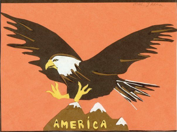 Eagle. Paper craft