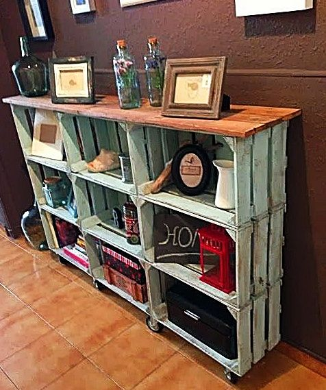 Pin By Hazel Hellmund On Decor Crate Bookcase Diy Furniture Furniture Diy