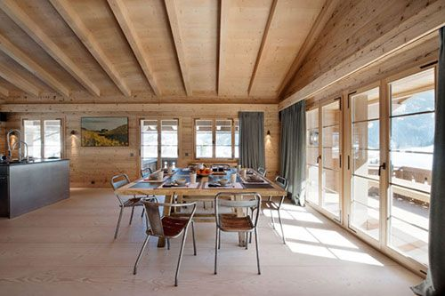 Modern Zwitsers Chalet : Interior chalet swiss alps lr living room pinterest