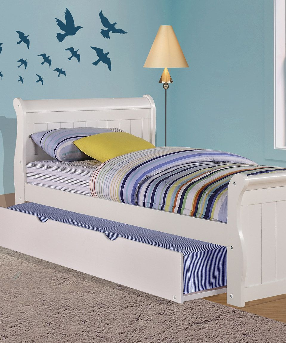 Loving this White Sleigh Bed & Trundle Set on zulily!