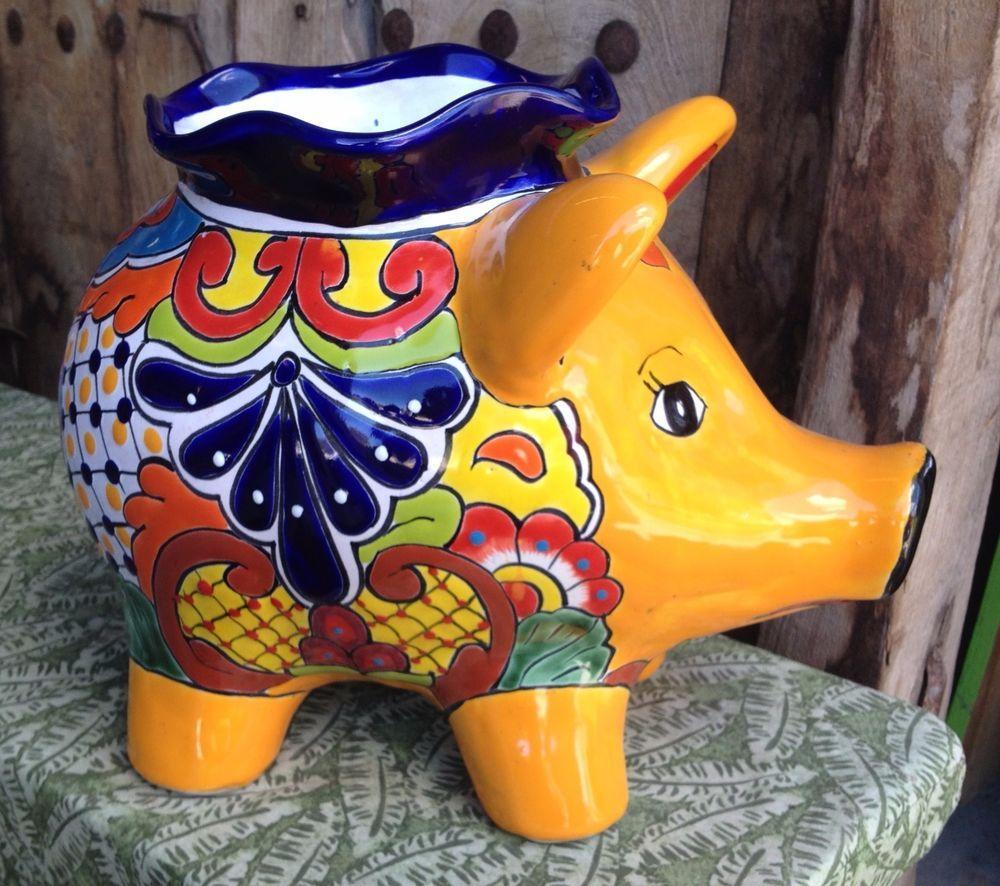 large talavera pottery pig planter talavera talavera pottery rh pinterest com