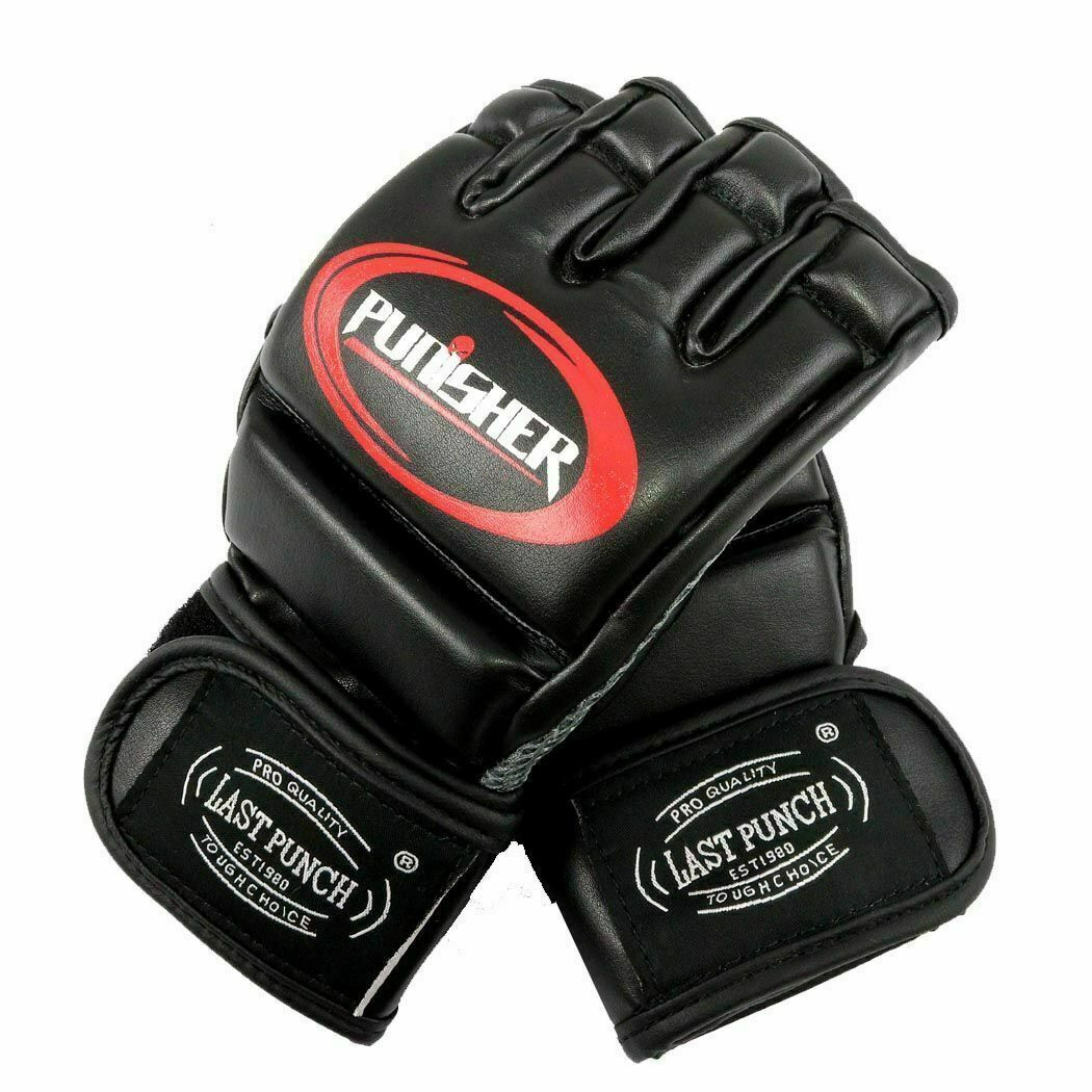 Boxing MMA Gloves Grappling Punching Bag Training Martial Arts Sparring ZY