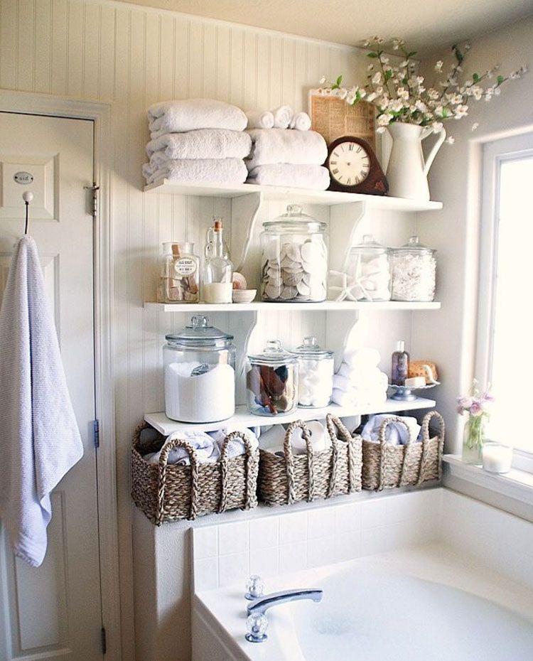 67 Best Small Bathroom Storage Ideas Cheap Creative Organization 2020 In 2020 Chic Bathroom Decor Shabby Chic Bathroom Decor Shabby Chic Bathroom
