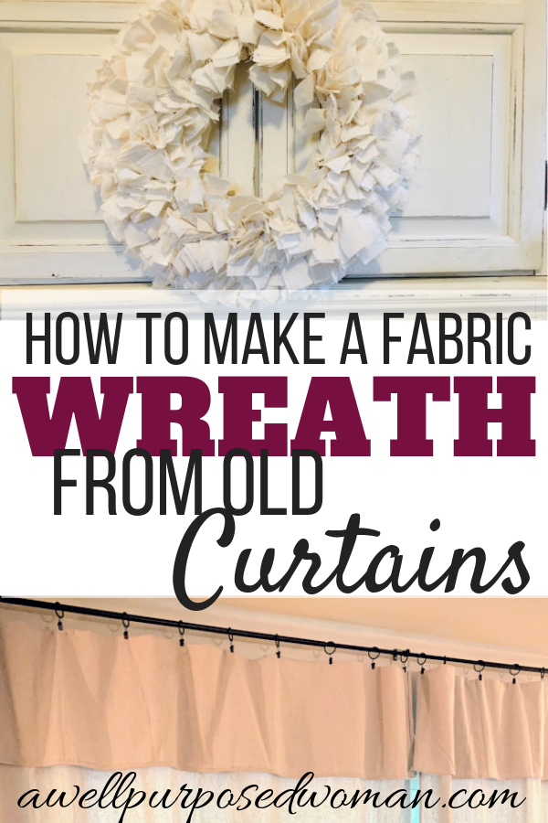 Photo of How to make a fabric wreath from old curtains without sewing