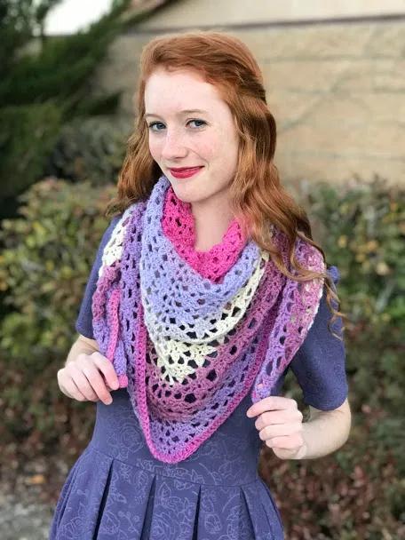 The Amore Shawl Free Crochet Pattern -