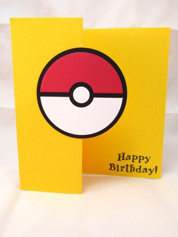 Pokemon Card Handmade Birthday Masculine Pokemon Throw Poke – Birthday Cards for Little Boys