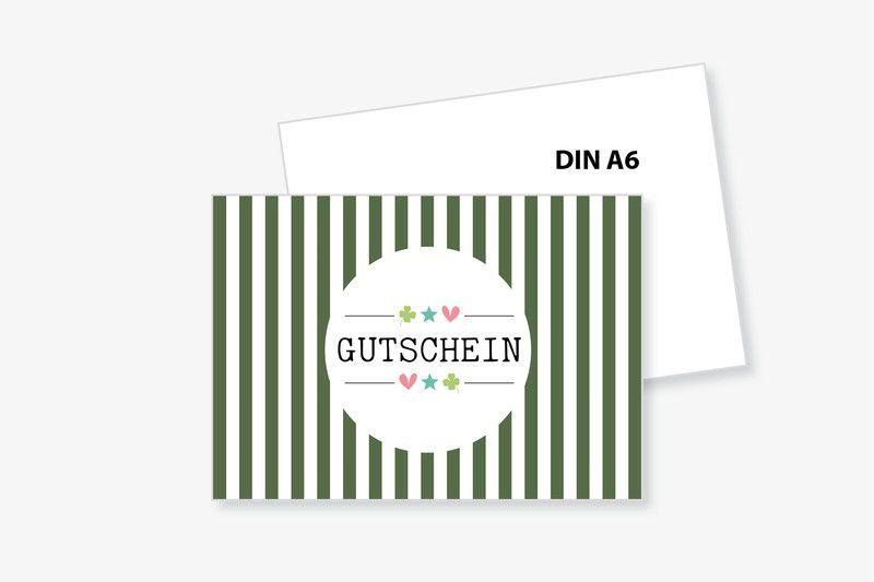 """PostKARTE """"GUTSCHEIN"""" mit Umschlag von Frau B. - PapeterieSHOP auf DaWanda.com"""