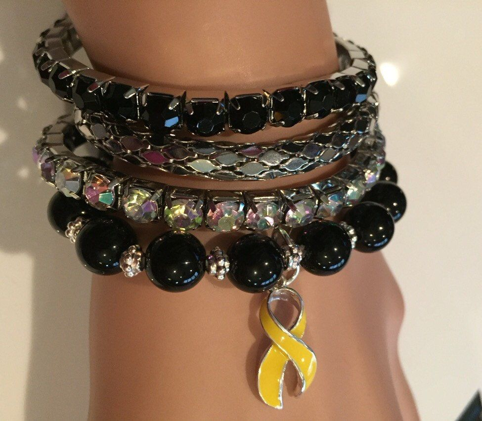 bladder liver wonder cancer osteosarcoma bracelet ribbon survivor awareness yellow woman pin adjustable bone