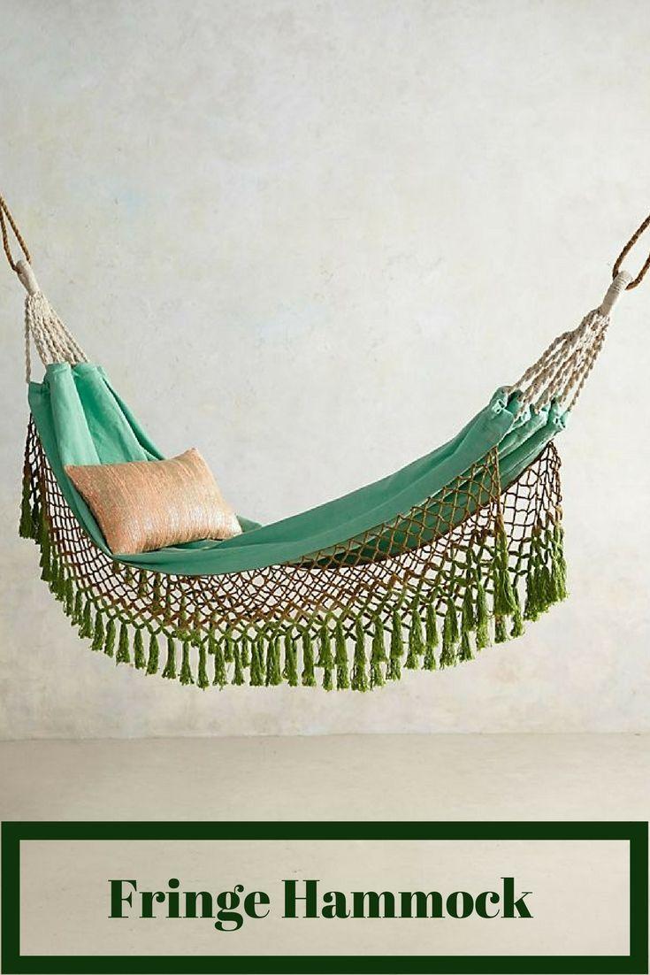 In door fringe hammock. #boho #homedecor #hammock #relaxing #moroccan #ad #shopstyle
