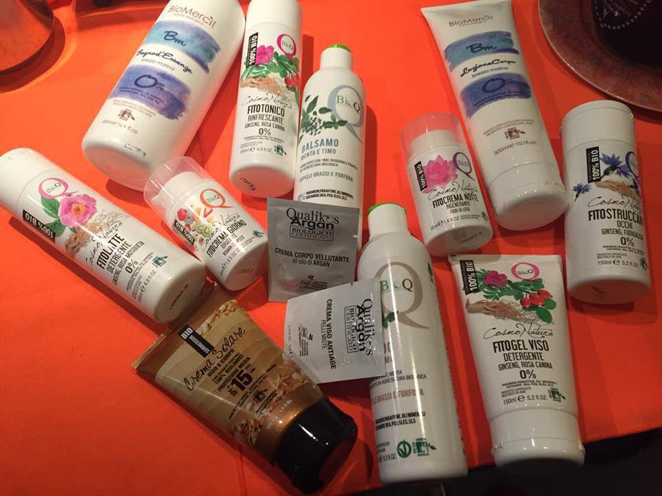 """La box di prodotti """"Cosmo Natura"""" e """"Bio Mercì"""" #ILoveQualikos di Francesca Caso dal gruppo Vanity Space Make-Up & Glamour di Elena Rossi"""