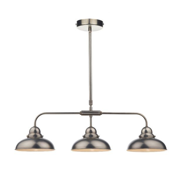 Dar Lighting Dynamo 3 Light Bar Pendant Antique Chrome Online From The Company