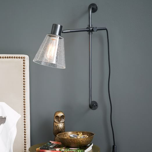 Factory Wall Sconce | west elm dislike the bubble glass, but they sell in clear