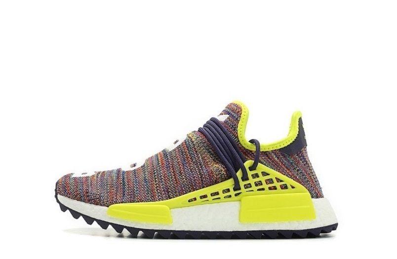 8abfbb765 Pharrell x Adidas NMD Hu Trail Multicolor AC7360 (1)