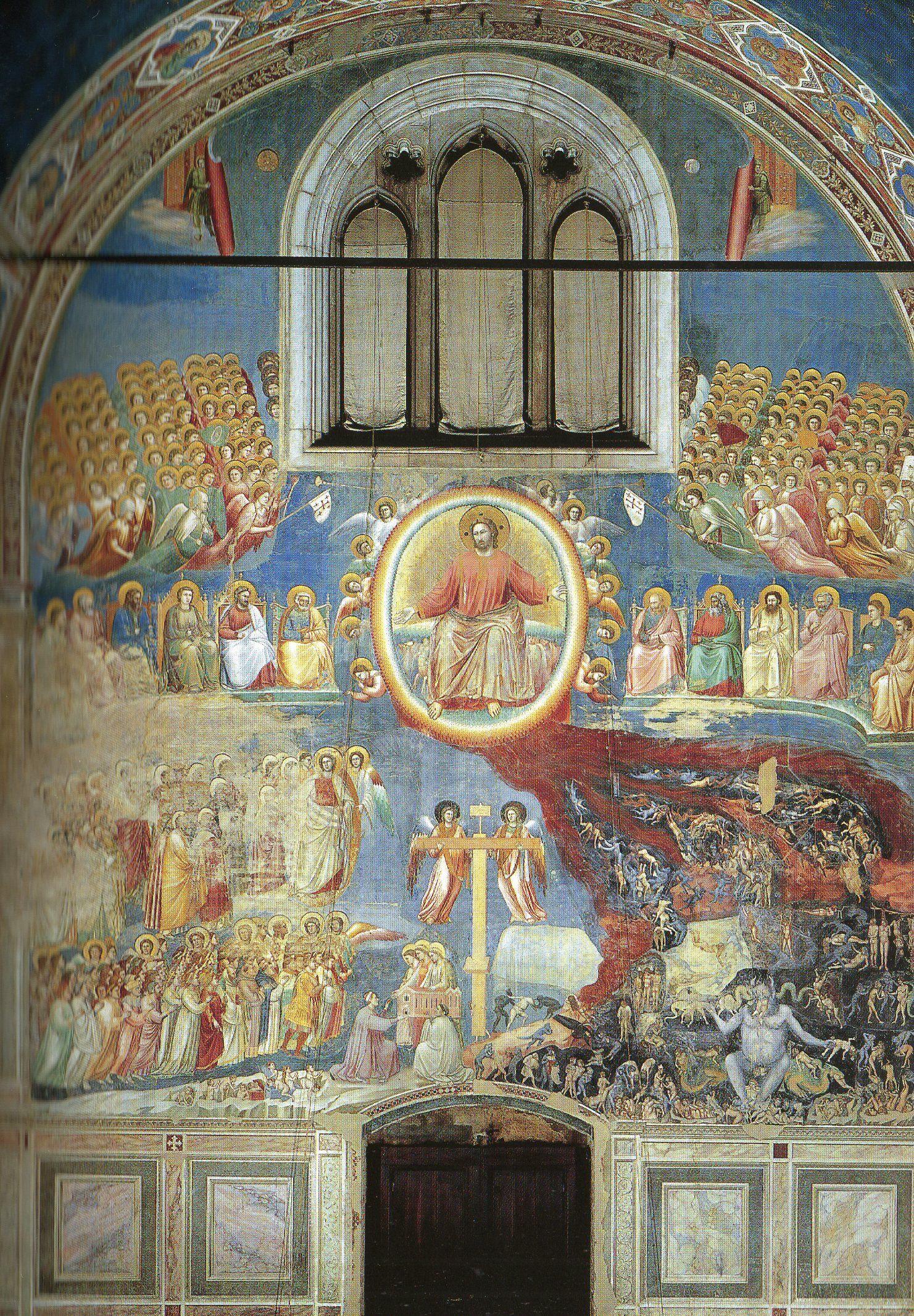 Giotto - Le jugement dernier   Histoire de l'art (prépa ...